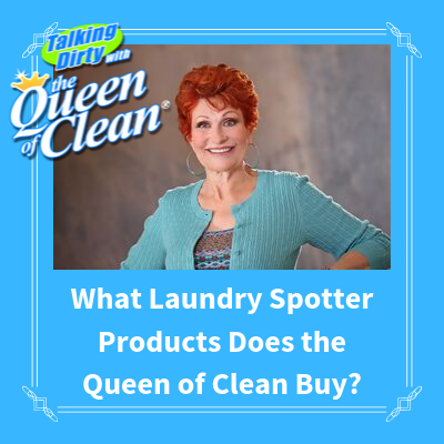 WHAT LAUNDRY SPOTTER PRODUCTS DOES THE QUEEN OF CLEAN BUY
