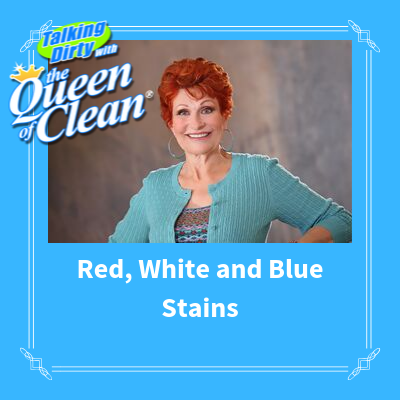 RED WHITE and BLUE STAINS