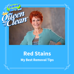 how to remove red stains - Queen of Clean removal tips