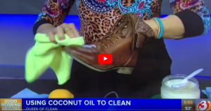 Cleaning with coconut oil