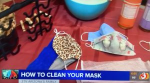 Cleaning fabric face masks