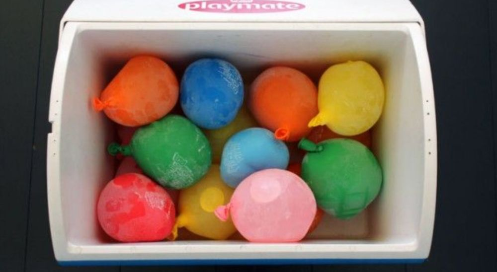 FROZEN WATER BALLOONS Keep Things COLD IN COOLER