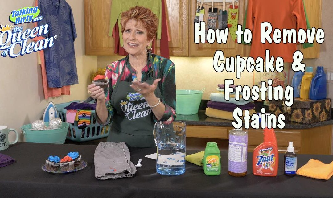 How To Remove Colored CUPCAKE Or CAKE FROSTING From FABRICS